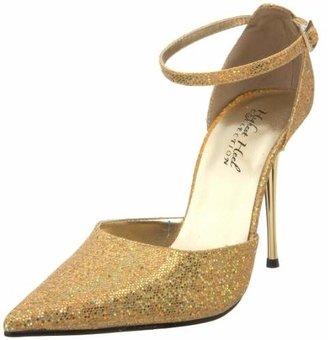 The Highest Heel Women's Slick Ankle-Strap Pump