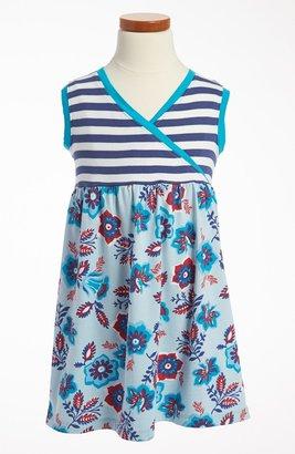 Tea Collection 'Sea Gypsy' Wrap Neck Dress (Little Girls & Big Girls)