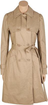 Max Studio Coated Linen/Cotton Trench Coat