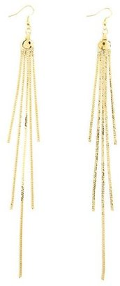 Charlotte Russe Shoulder Duster Fringe Earrings