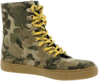 River Island Camo High Top Trainers