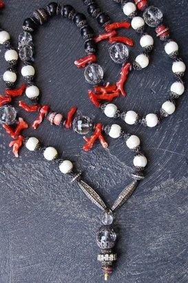 Ronas Rona Pfeiffer Branch Coral And Diamond Necklace