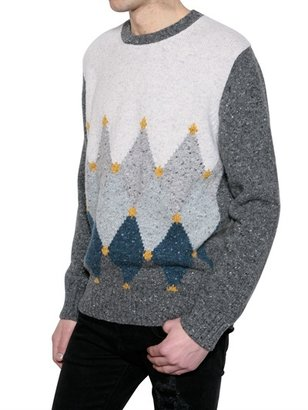Ballantyne Cashmere Wool Blend Knitted Sweater