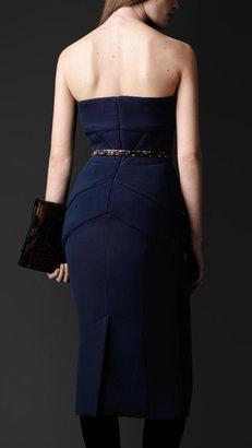 Burberry Double Crêpe Silk Strapless Dress