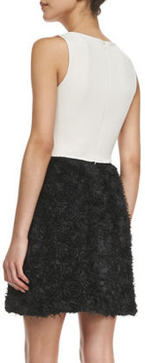Halston Rosette Sleeveless Dress