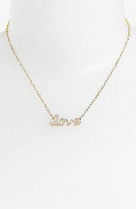 Ariella Collection 'Messages - Love' Script Pendant Necklace