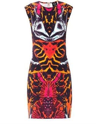 McQ by Alexander McQueen Kaleidoscope beetle-print dress