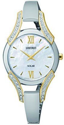 Seiko Women's SUP214 Stainless Steel Bangle Watch $145 thestylecure.com