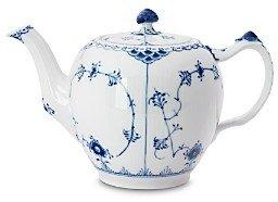 Royal Copenhagen Blue Fluted Half Lace Teapot