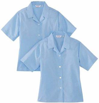 "Trutex Girl's 2PK Short Sleeve Non-Iron Rever Blouse,(Manufacturer Size: "" Chest)"