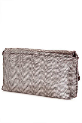 Topshop Metallic Riot Clutch Bag
