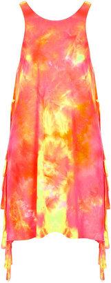 Topshop Multi Tie Dye Vest Cover Up