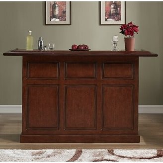 American Heritage Lexington Bar with Wine Storage Color: Suede