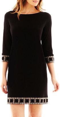Tiana B 3/4-Sleeve Embellished Dress- Petite