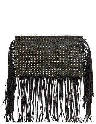 MANGO Fringed shoulder bag