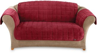 Sure Fit Deluxe Pet Burgundy Furniture Throw Covers