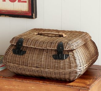 Pottery Barn Jacquelyne Curved Lidded Basket