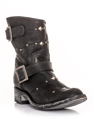 Mexicana Studded and embroidered biker boots