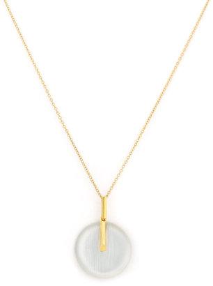 Alexis Bittar Small Circle Pendant Necklace