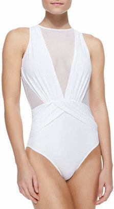 OYE Swimwear Elvira Sheer Wrapped One-Piece Swimsuit