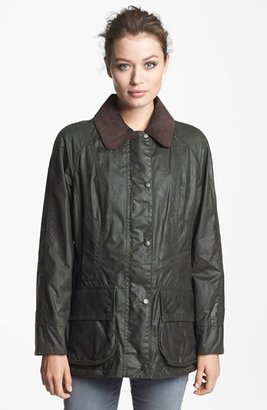 Women's Barbour Beadnell Waxed Cotton Jacket $399 thestylecure.com