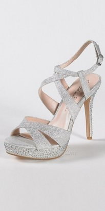 eDressMe High Glitter Sandal with Crystal Details