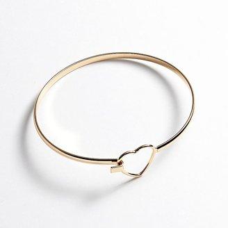 Lauren Conrad gold tone heart bangle bracelet
