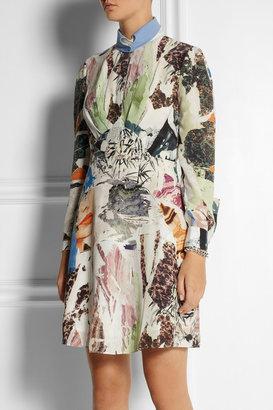 Carven Printed silk-georgette dress