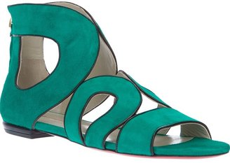 Kalliste suede cut-out sandal