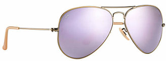 Ray-Ban RB3025 Aviator Flash Lenses 58 mm Sunglasses $175 thestylecure.com
