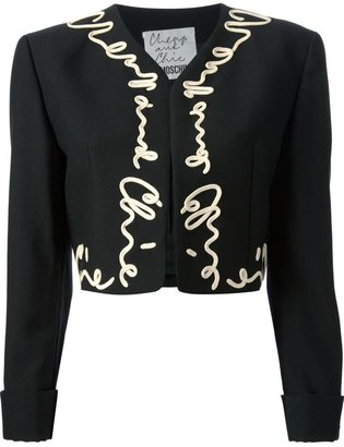 Moschino Vintage cropped applique jacket