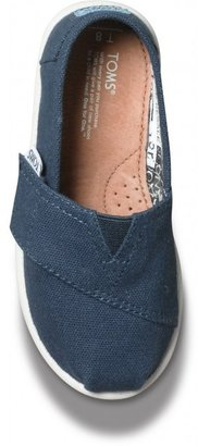 Toms Navy Canvas Tiny Classics