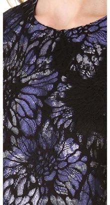 Vera Wang collection Sleeveless Chantilly Dress