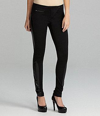 Gianni Bini Irina Faux-Leather-Panel Skinny Pants