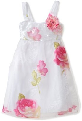Bonnie Jean Girls 7-16 Sequin Bodice To Burn Out Flowers Skirt