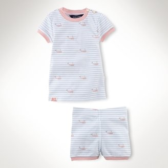 Striped Cotton Pajama Set