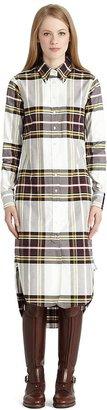 Brooks Brothers Multi Tartan Oxford Button-Down Shirt Dress