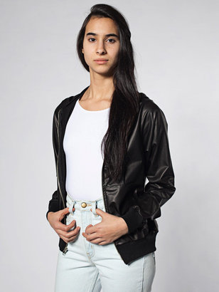 American Apparel Unisex Matte Faux Leather Hoodie