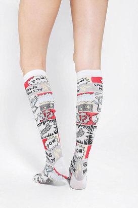 Urban Outfitters Comic Book Knee-High Sock
