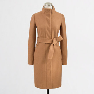 J.Crew Factory Factory belted wool-cashmere funnel coat