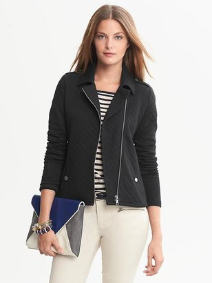 Banana Republic Quilted Knit Moto Jacket