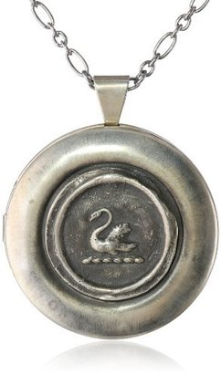 Pyrrha Sterling Silver Mini Swan Large Locket Necklace