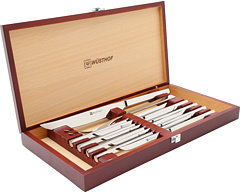 Wusthof 10-Piece Stainless Steak & Carving Set