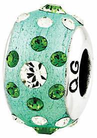 Prerogatives Sterling Green Molded Swarovski Crystal Bead $39 thestylecure.com