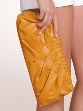 Arden B Woven Smocked Clutch