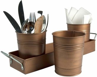 Artland Partyware 4-pc. Antique Copper Picnic Caddy