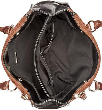 Giani Bernini Florentine Glazed Leather Filigree Double Zip Satchel