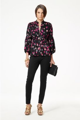 Diane von Furstenberg Zazu Top in Shadow Lights Pink
