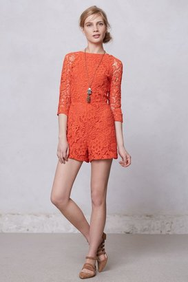 Anthropologie Accordance Lace Romper