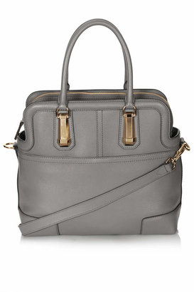 Topshop Leather icon doctor's tote bag